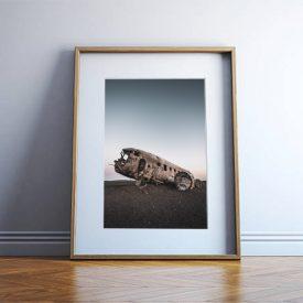 alessandro-bosio-travel-reportage-DC3-airplane-wreck-iceland-stampa-fotografica-fine-art-cornice